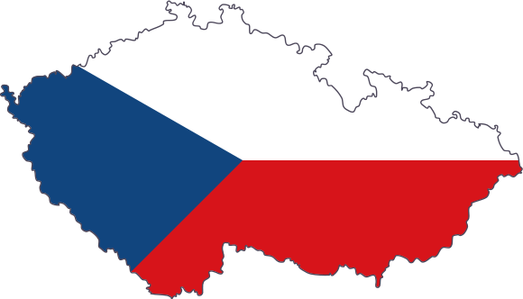 The Czech Republic flag